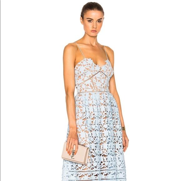 6c4e2485a590 Self-Portrait Dresses | Self Portrait Azalea Dress Sky Blue Light Us ...
